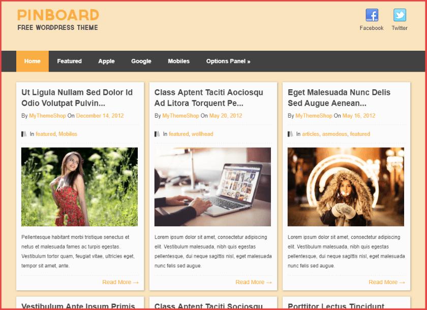 Pinboard Pinterest WordPress theme