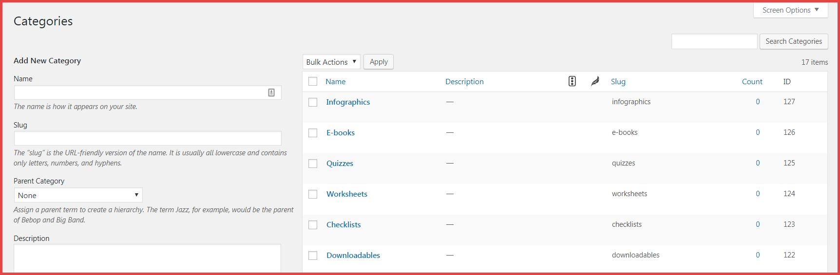 create-categories