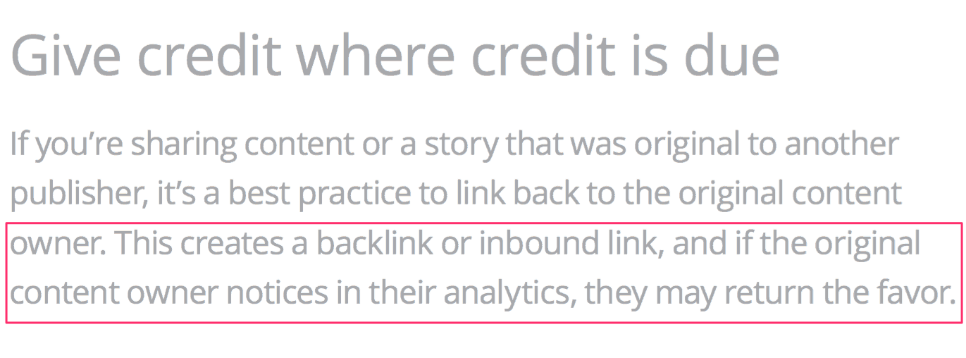 Google Advice on how to attract new links