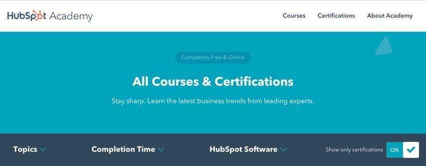 Hubspot Digital Marketing Academy